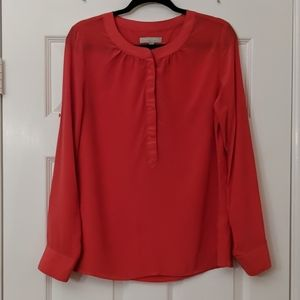 BANANA REPUBLIC Silk Tab Sleeve Popover Top